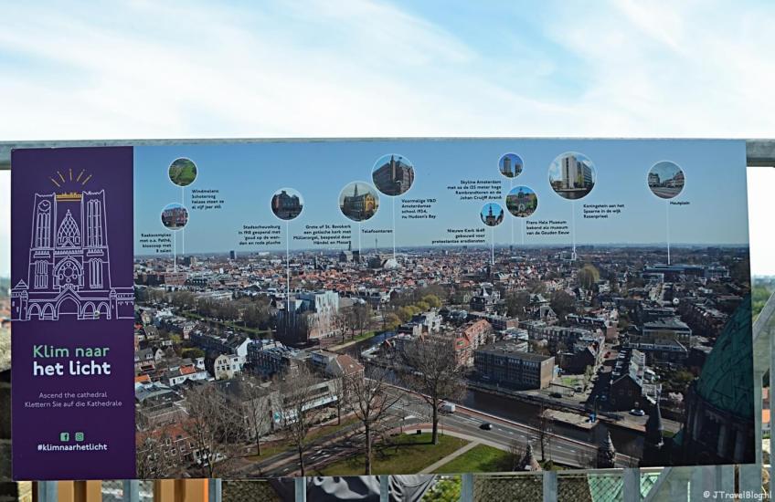 Een beschrijving van dat wat je ziet vanaf het hoogste punt van de KoepelKathedraal in Haarlem