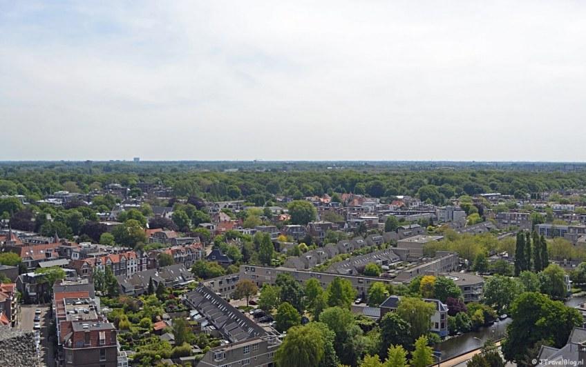 Uitzicht richting Hoofddorp vanaf het hoogste punt van de KoepelKathedraal in Haarlem