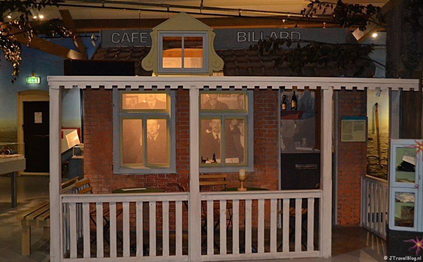 Het café in de Haarlemmermeer in het Historisch Museum Haarlemmermeer in Hoofddorp