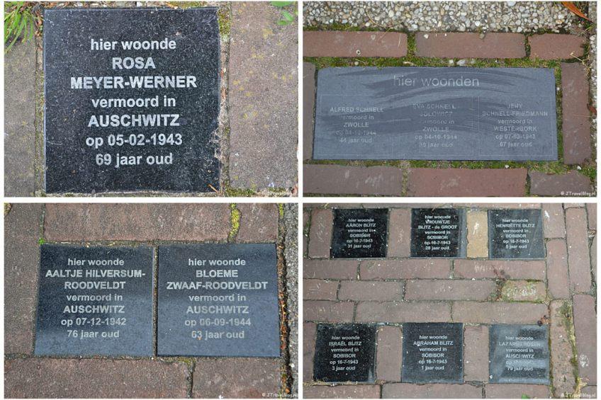 Herdenkingsstenen in Amersfoort tijdens de 9e etappe van het Westerborkpad