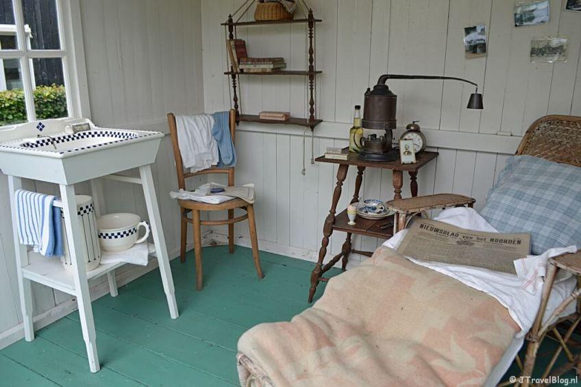 Het TBC-huisje in Openluchtmuseum Het Hoogeland in Warffum
