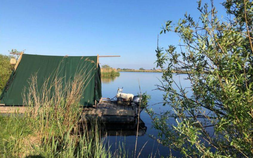 Kampeervlot in Oude Meer/Noord-Holland