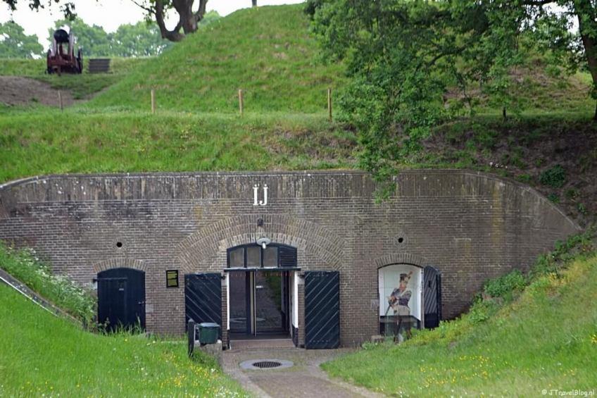 Kazemat IJ in het Nederlands Vestingmuseum in Naarden