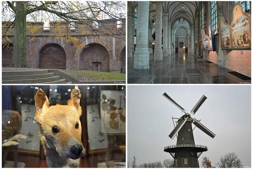 Uitje naar Leiden in het kader van mijn therapie. Dit is de Burcht, de Pieterskerk, het Japanmuseum Sieboldhuis en Molenmuseum de Valk.
