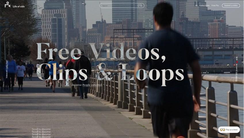 Life of vids: een website met gratis afbeeldingen