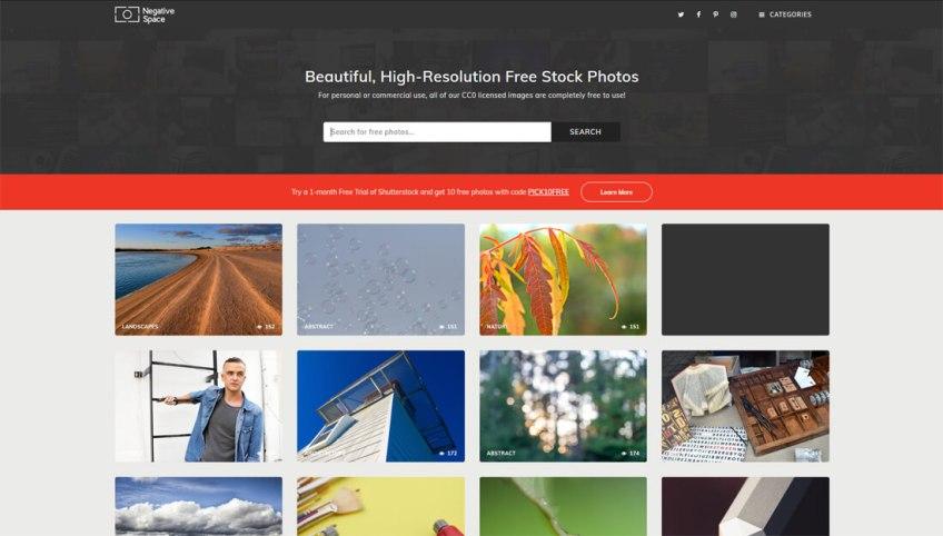 Negative Space: een website met gratis afbeeldingen