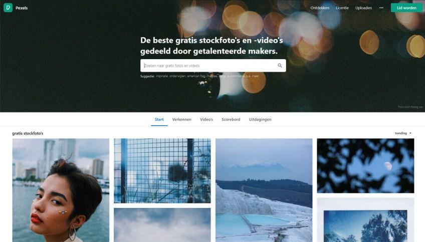 Pexels: een website met gratis afbeeldingen
