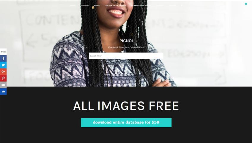 Picnoi: een website met gratis afbeeldingen