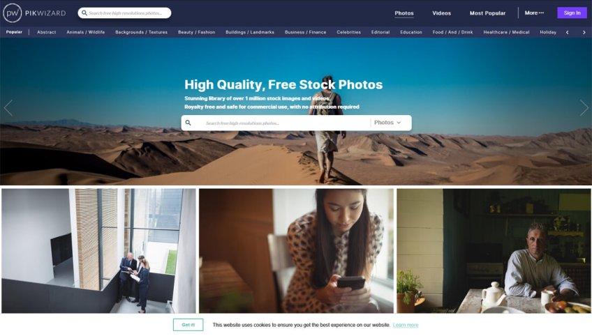 Pikwizard: een website met gratis afbeeldingen