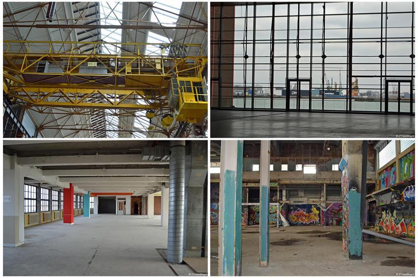 Rotterdam Makers District Instameet met het Innovation Dock en de Onderzeebootloods en het M4H district met de Keilewerf, Studio Roosegaarde, het HAKA-gebouw en Ferro Dome