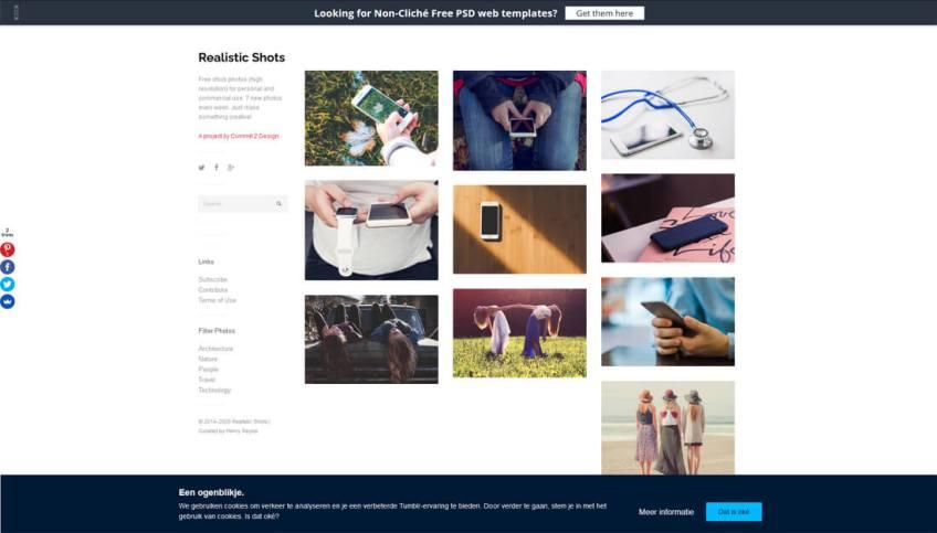 Realistic Shots: een website met gratis afbeeldingen