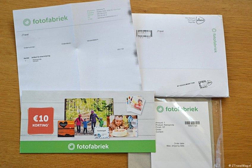 De inhoud van mijn pakketje van Fotofabriek.nl