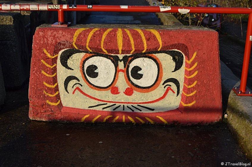 Fotoblog met rode foto's: Street art in Amsterdam-Noord
