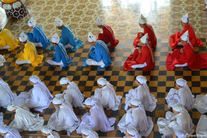 De Cao Dai Tempel in Vietnam