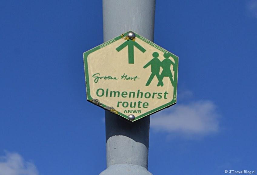 Het routebord van de Olmenhorstroute in Lisserbroek/Haarlemmermeer