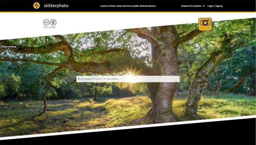 Skitterphoto: een website met gratis afbeeldingen