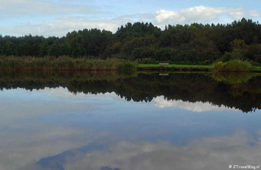 Het Diemerbos tijdens de 2e etappe van het Westerborkpad