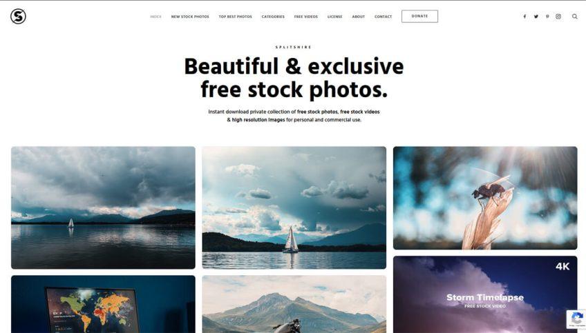 SplitShire: een website met gratis afbeeldingen