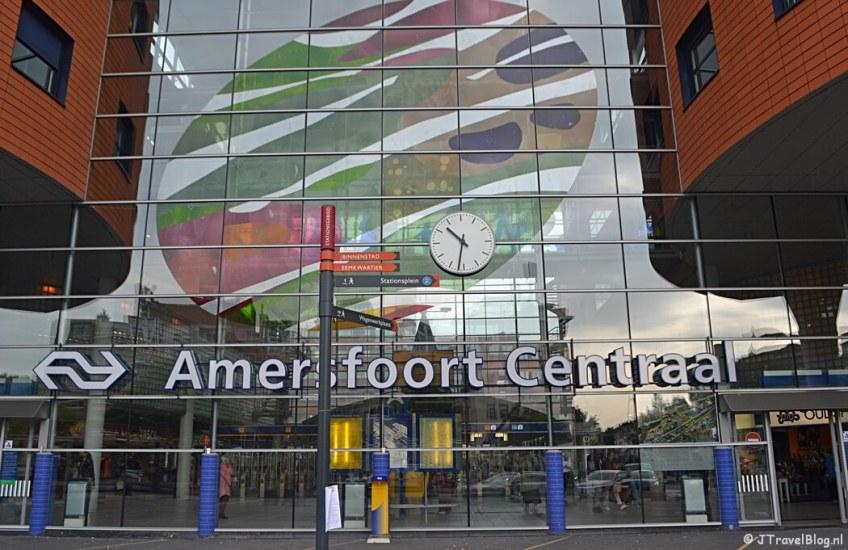 Station Amersfoort tijdens de 9e etappe van het Westerborkpad