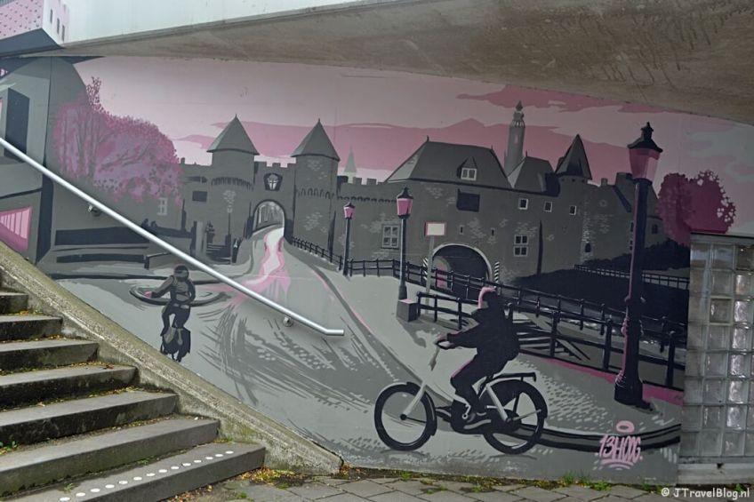 Streetart in een tunnel in Amersfoort tijdens de 8e etappe van het Westerborkpad