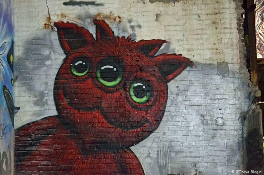 Streetart in de Ferro Dome tijdens de Rotterdam Makers District Instameet