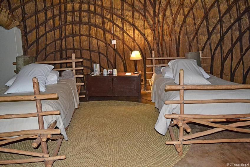 De binnenkant van de beehive in Mlilwane Wildlife Sanctuary in Swaziland
