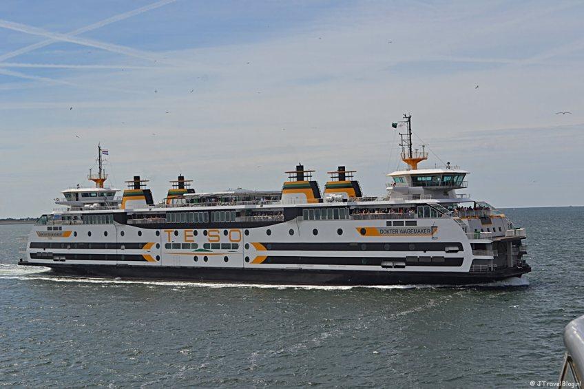 De veerboot van de TESO naar en van Texel (dit is een oude boot)