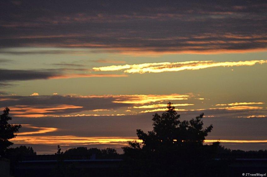 Zonsondergang bij mij thuis in juni 2015