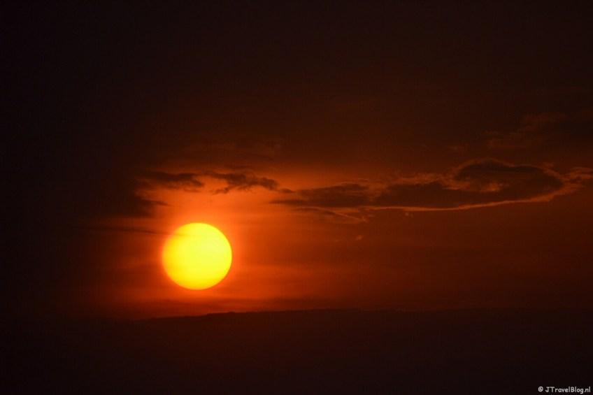 Zonsondergang bij mij thuis in mei 2015