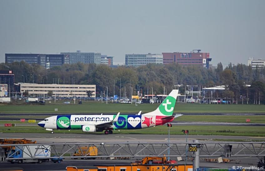 Transavia vliegtuig op Schiphol