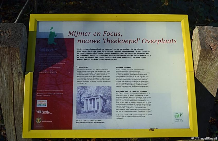 Uitleg over de Theekoepel op Buitenplaats De Overplaats in Heemstede