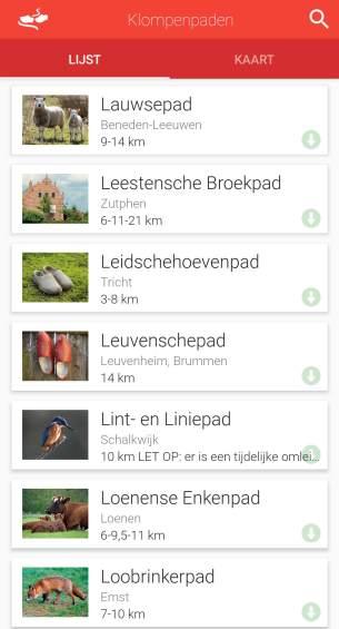 De wandel app Klompenpaden