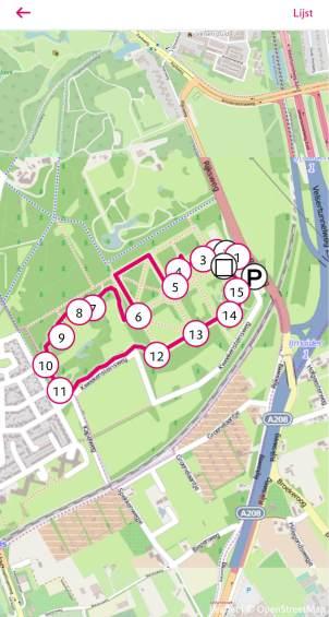 De wandel app Natuur Routes
