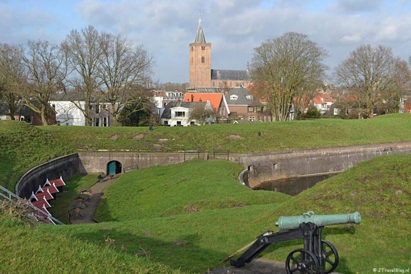 Het uitzicht vanuit het Nederlands Vestingmuseum in Naarden