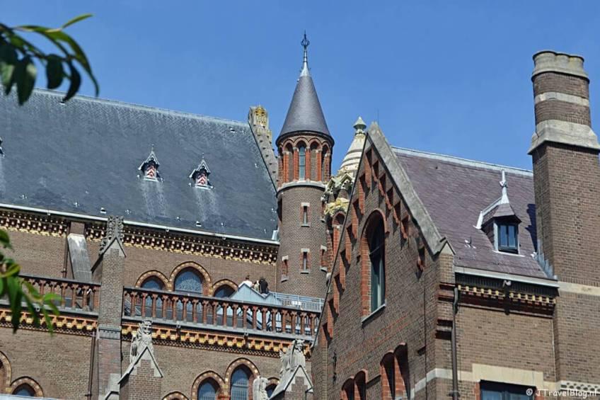 Het dak van de Koepelkathedraal in Haarlem tijdens 'De Wezens van de Kathedraal'