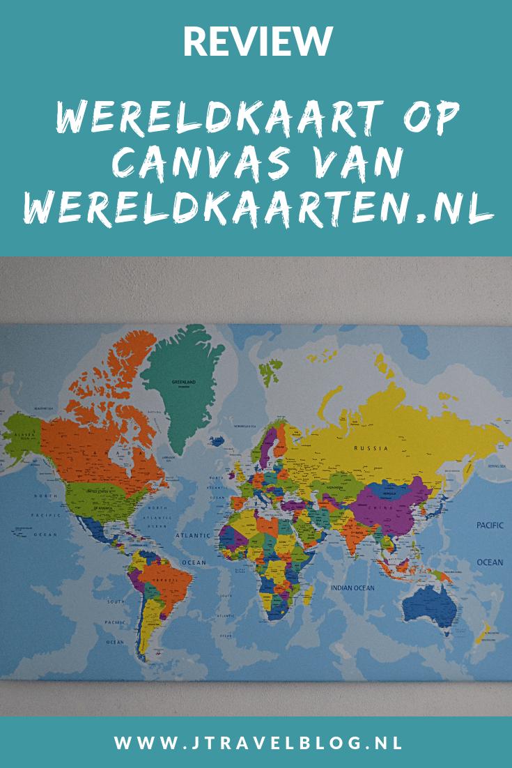 Van Wereldkaarten.nl mocht ik een wereldkaart op canvas uitkiezen. Ik kies uiteindelijk voor de kleurige versie van de wereldkaart. Mijn review over wereldkaarten.nl lees je op mijn website. Lees je mee en doe inspiratie op. #review #wereldkaarten.nl #wereldkaart #jtravelblog #jtravel