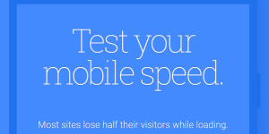 Google Mobile Speed Test
