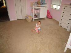 Mia and her new and improved room!