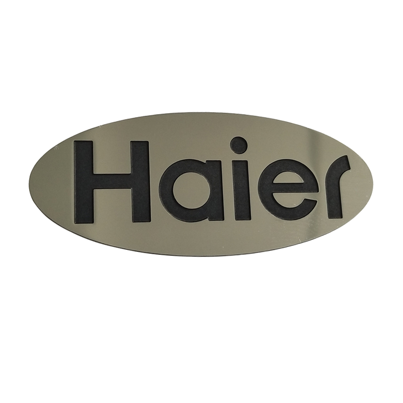 Custom metal thin labels brand embossed logo stickers cheap etched stainless steel sticker nameplates for machine