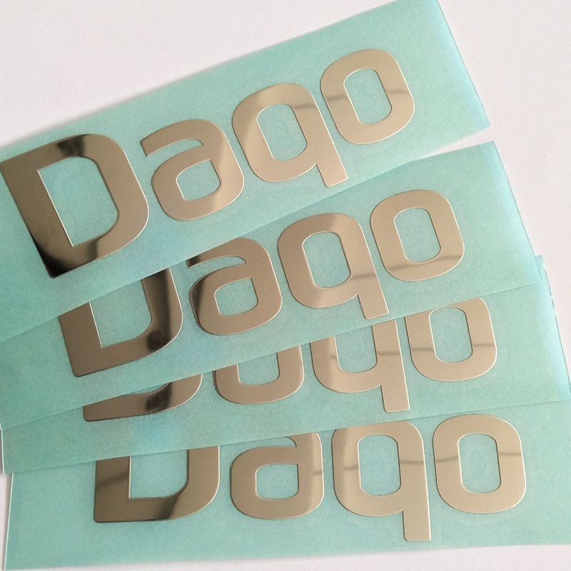 Customized electroplate rose gold shiny gold sliver support Pantone color nickel metal stickers for decoration