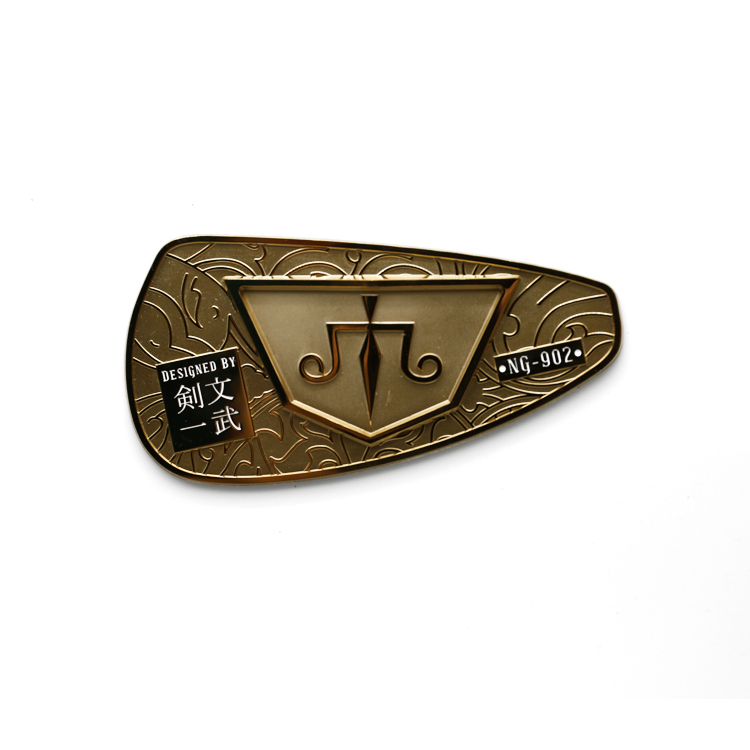 Custom small thick 3d electroform metal stickers decals metal transfer stickers metallic logo label stickers for golf club