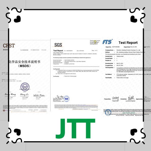 Certification JTT - Custom print metal thin labels brand embossed logo stickers cheap etched stainless steel nameplates metal sticker for many products