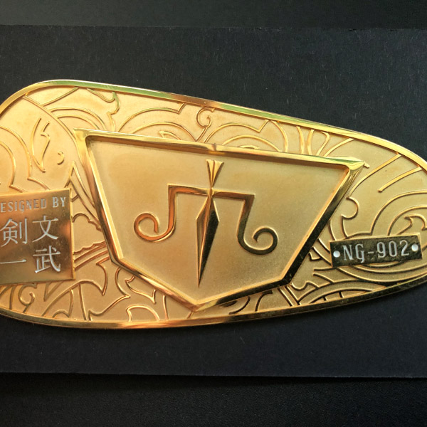 2020 hot sale private label embossed nickel electroforming label metal 3D logo sticker label for golf clubs