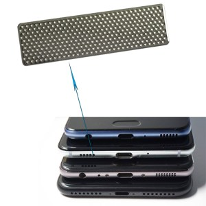 Mini Black Perforated Metal Mesh Electroform Nickel Mesh Panel For Metal Speaker Grille