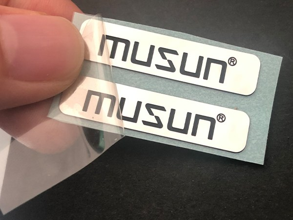 Words concave metal sticker 1 - Custom Private Logo Stainless steel Glass Bottle Metal Adhesive Sticker Metal Nameplates For Company Brand Name