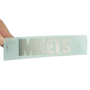 Promote electroplated metal plate handbag metal label custom nickel stickers for laptop notebook home appliance