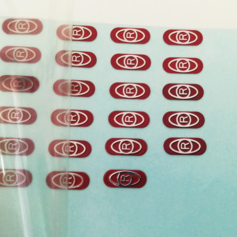 New custom electronic metal emblem etching stainless steel trunk badge sticker logo for equipment