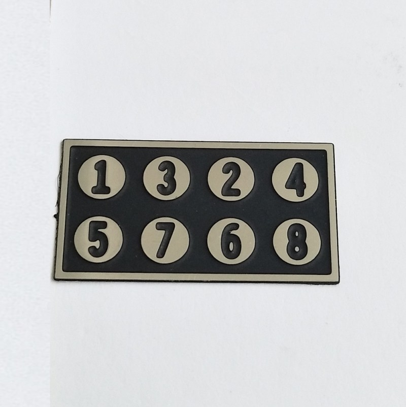 Custom stainless steel etching logo plate name plate metal plate sticker for equipment