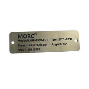 Custom stainless steel sign board stainless steel logo sign metal sticker label for equipment