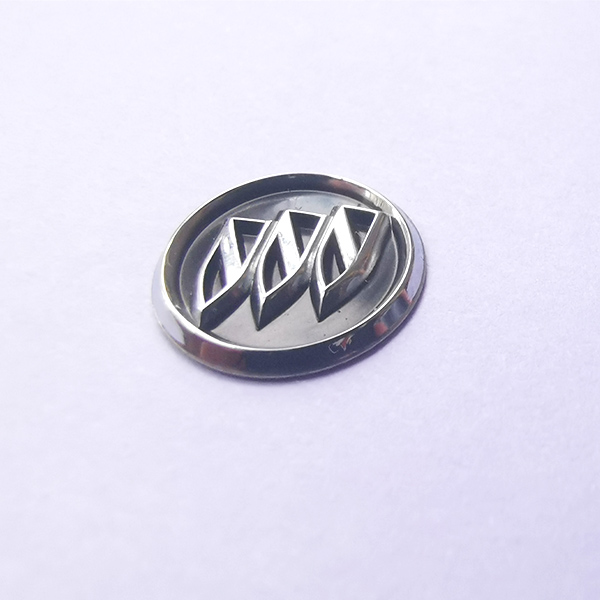 Custom 3D chrome logo permanent adhesive nickel electroformed metal stickers for golf club car